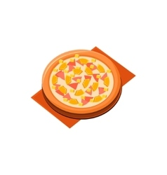 Pineapple Ham Pizza vector image