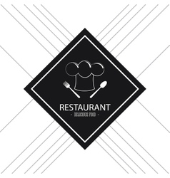 Plate icon Food and Menu design graphic vector image