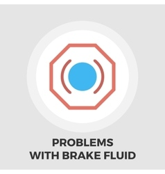 Problems with brake fluid icon flat vector
