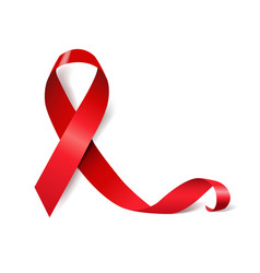 Red ribbon aids day vector