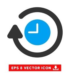 Repeat clock eps icon vector