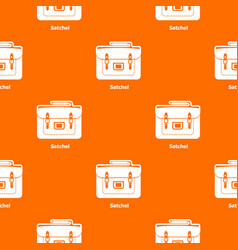 Satchel bag pattern orange vector