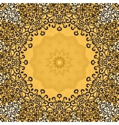 Seamless ornate mandala frame oriental vector