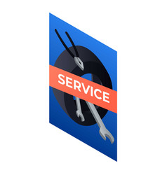 service car panel icon isometric style vector image