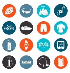 Set of Icons about Cycling vector image