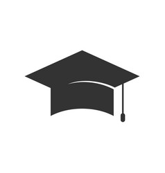 Simple graduation cap silhouette design vector