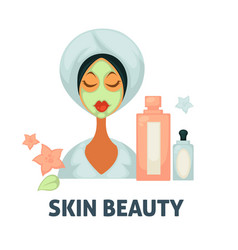 Skin beauty spa wellness salon icon of vector