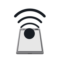 smartphone connected wifi internet vector image