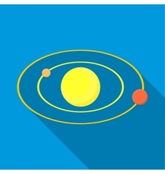 Solar system icon flat style vector