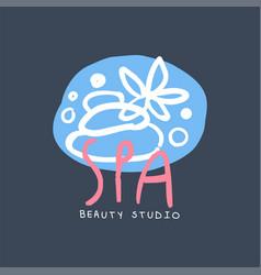 Spa and beauty studio logo emblem for wellness vector