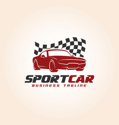 sport car - auto race logo template vector image