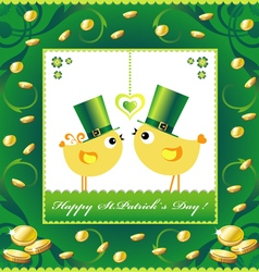 St Patricks Day background or card vector image