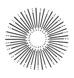 sunbeam sun line art sketch vector image