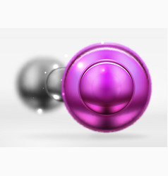 Tech blurred spheres and round circles with glossy vector