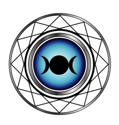 Triple goddess moon symbol- Wiccan symbol vector