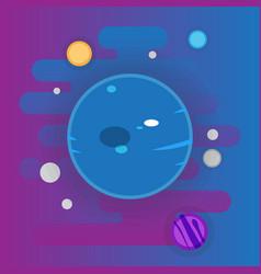 uranus icon - flat space elements vector image