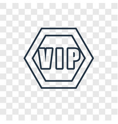 vip concept linear icon isolated on transparent vector image