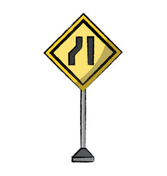 warning road signs design vector image
