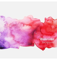 Watercolor splatter pink background vector