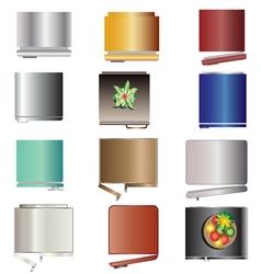 Kitchen equipment Refrigerators top view set 6 vector image vector image