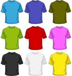Men T-shirt template vector image vector image