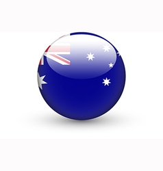 Round icon with national flag of Australia vector image