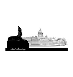 st petersburg city russia saint isaacs cathedral vector image