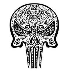 zentangle stylized skull freehand sketch vector image vector image