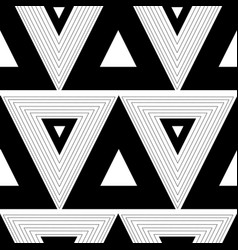black white abstract graphic pattern with vector image vector image