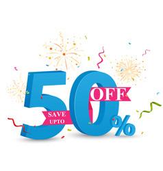 discount sale banner design vector image vector image