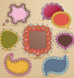 girly speech bubbles vector image