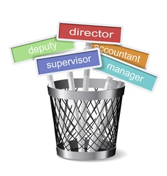 Job career concept vector image