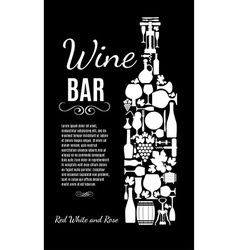 Wine card vector