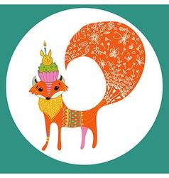 Cartoon color fox vector image