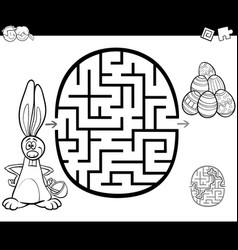 easter maze activity for coloring vector image