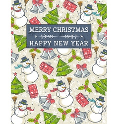 grunge background with christmas elements vector image