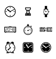 Set of icons - time clocks watches vector image