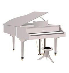 White piano vector image vector image