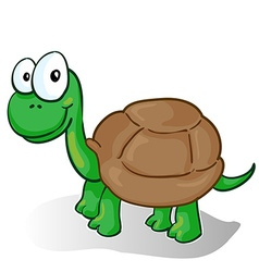 a smiling cartoon turtle vector image vector image