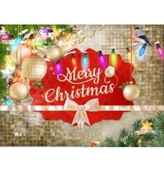 Christmas decoration background EPS 10 vector image