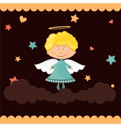 cute little angel vector image