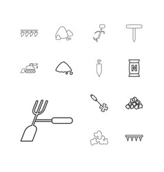 13 soil icons vector