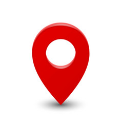 3d map pointer pin vector image