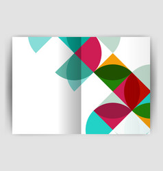 Abstract circle design business annual report vector