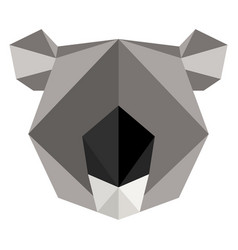 Abstract low poly koala icon vector