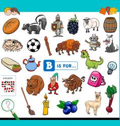 B is for educational task for children vector