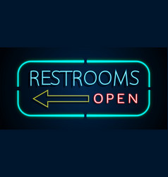 Background of neon signs restrooms vector