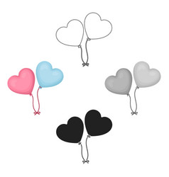Balloons icon in cartoonblack style isolated vector