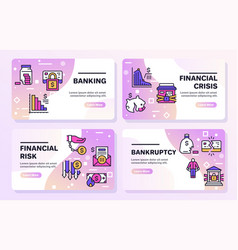 banner banking financial vector image
