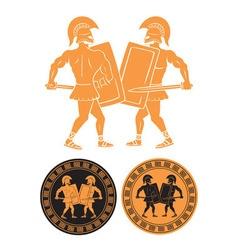 Battle gladiators vector